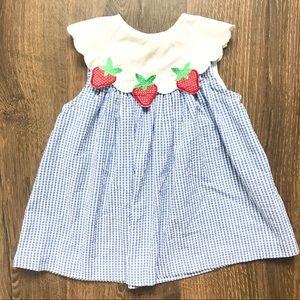 Vintage Seersucker Strawberry Patch Dress
